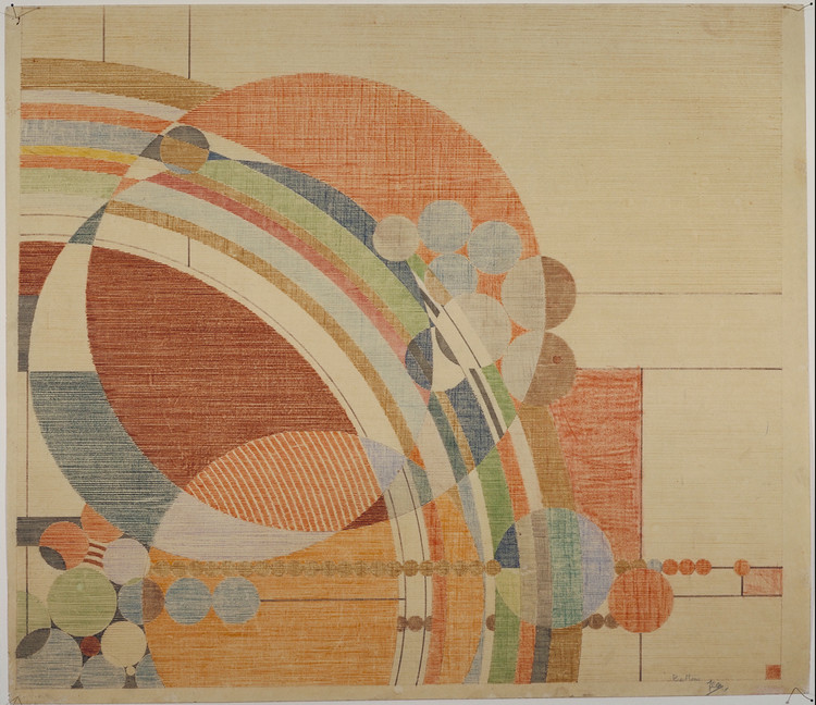 Liberty Magazine Cover. 1926. Color pencil on paper. 24 1/2 x 28 1/4″ (62.2 x 71.8 cm). The Frank Lloyd Wright Foundation Archives. Image © The Frank Lloyd Wright Foundation Archives (The Museum of Modern Art | Avery Architectural & Fine Arts Library, Columbia University, New York)