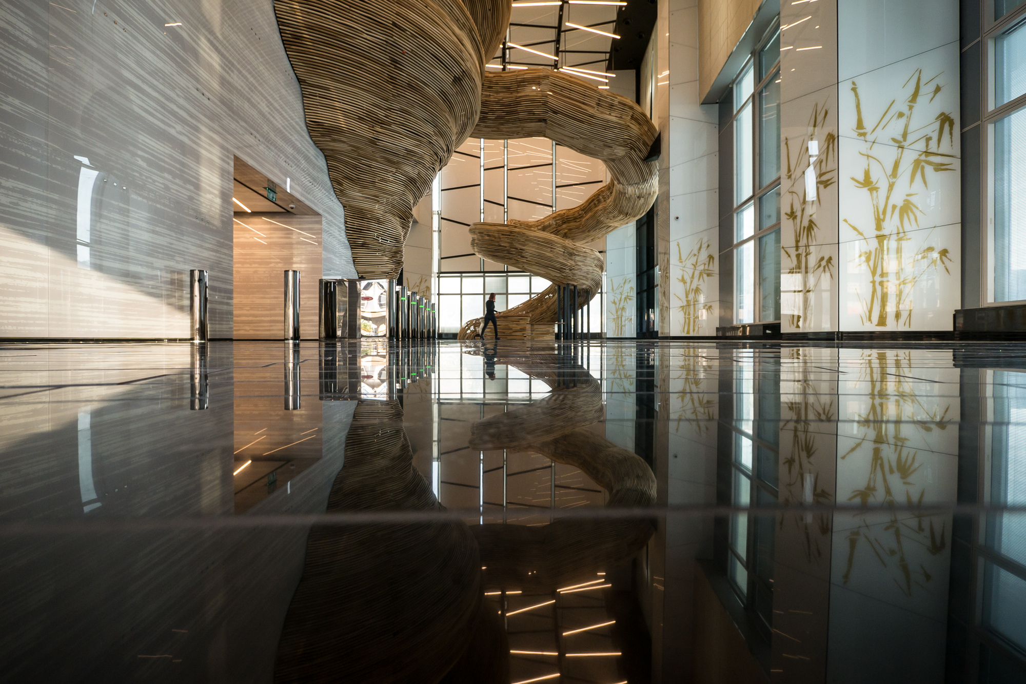 Gallery Of Atrium Tower Lobby Oded Halaf And Crafted By