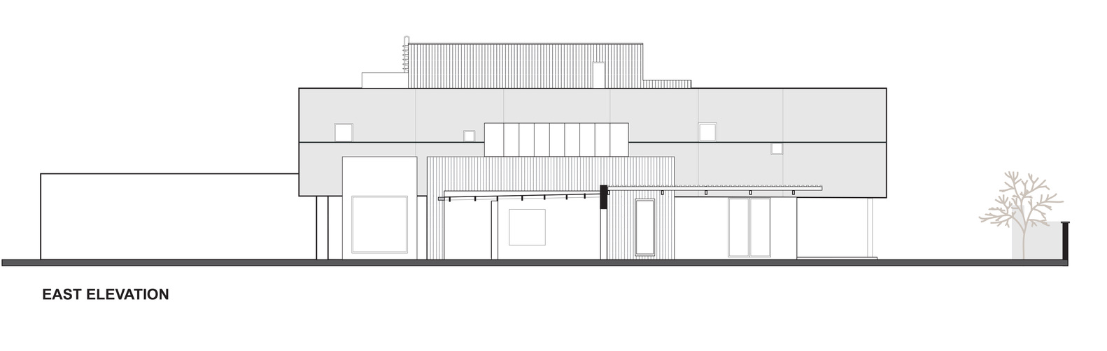 hight resolution of the wolf house east elevation