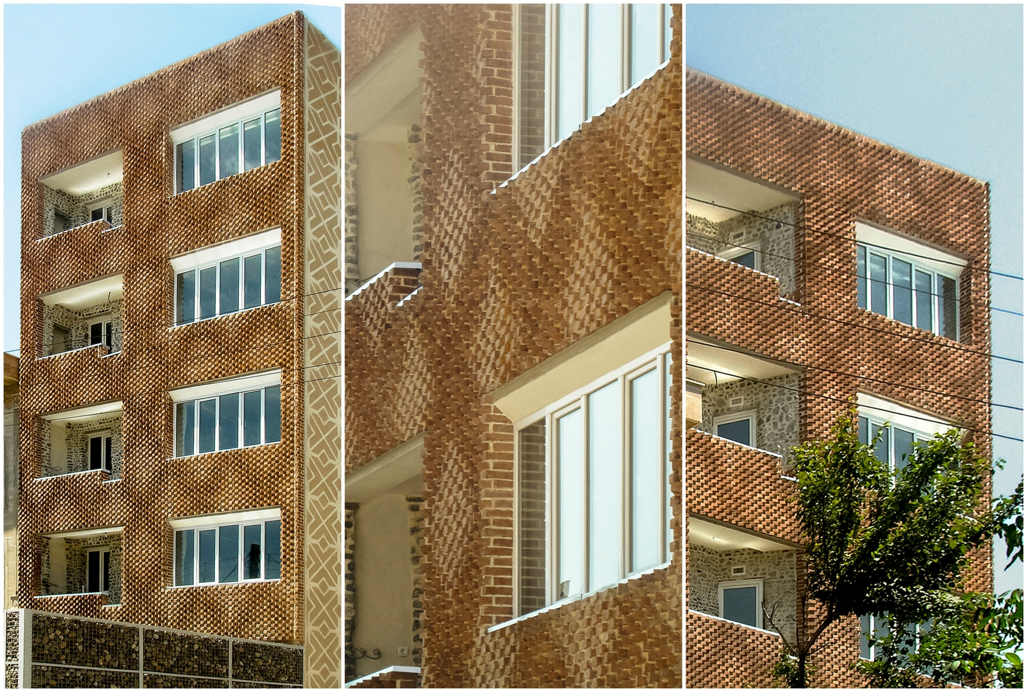 """diy Architects"" Parametric Brick Facade Built Traditional Craft Techniques"