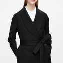 Belted Shawl Coat via COS