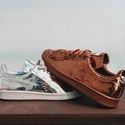 Metallic Adidas x Raf Simons Stan Smiths via High Snobiety