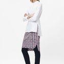 Crinkled Print Skirt via COS