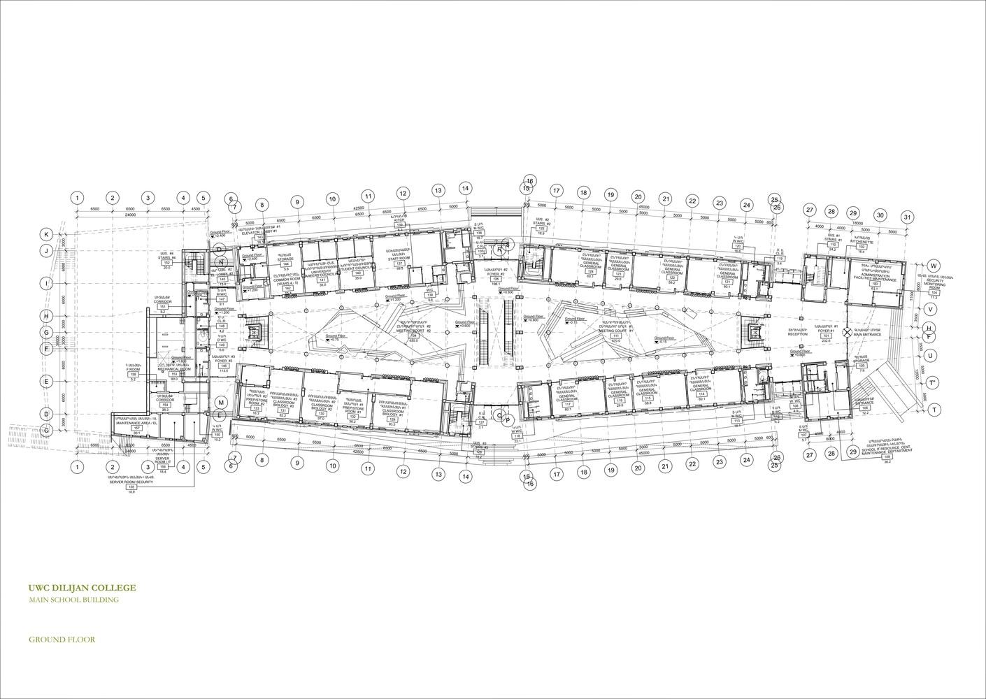 uwc dilijan college ground floor plan [ 1410 x 1000 Pixel ]