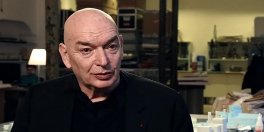 "Image via screenshot from <a href='http://www.archdaily.com/476799/video-jean-nouvel-on-arabic-architecture-context-and-culture'>""Jean Nouvel: Architecture is Listening"" video by Louisiana Channel</a>"