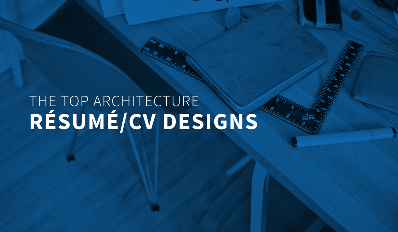 Gallery Of The Top Architecture Résumé CV Designs 1
