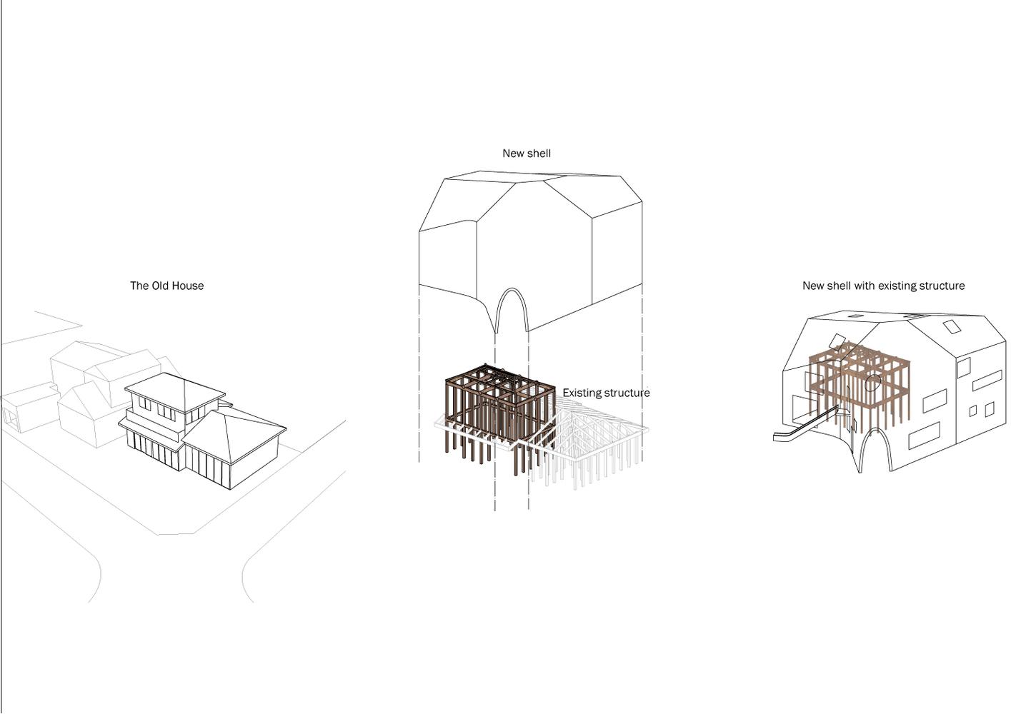 clover house diagram [ 1415 x 1000 Pixel ]