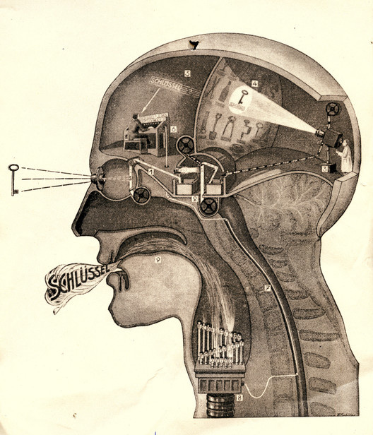 "Fritz Kahn: Man Machine (Edited, 2009). Image Cortesia de ""Are We Human"" / 3. Istanbul Tasarim Bienali"
