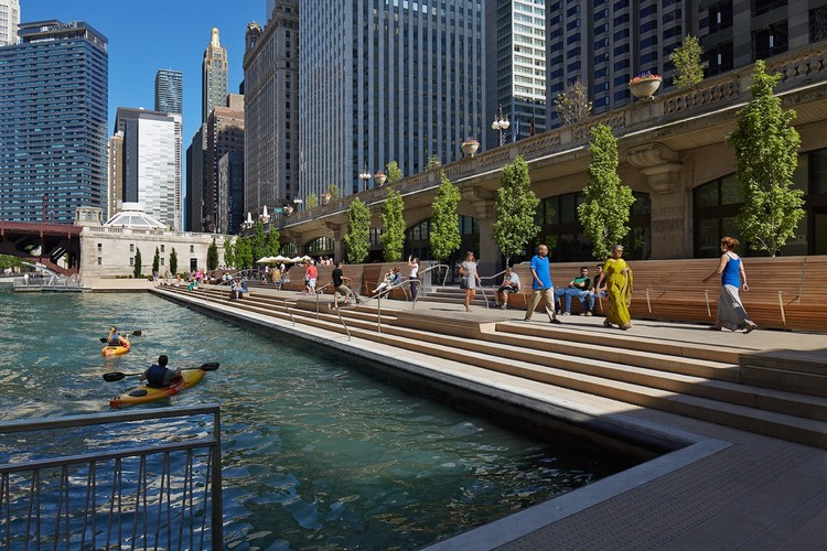 """Chicago Riverwalk"", Chicago, EE.UU. Image © Kate Joyce Studios"