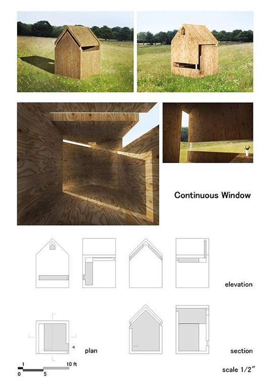 """""""Continuous Window"""" Playhouse, Toda Junya (2016) . Image Courtesy of The Life of an Architect"""