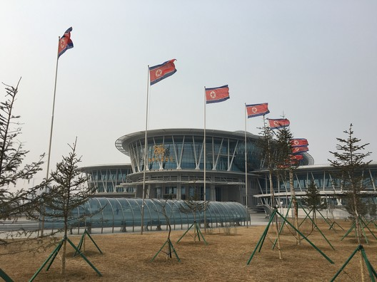 Pyongyang's new science and technology center. Image © Koryo Tours courtesy of Alex Davidson