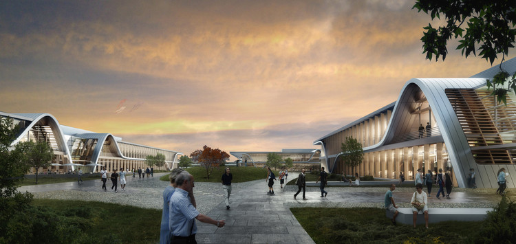 Form4 Architecture Breaks Ground on Sustainable Technology Park with Sweeping Curves , Courtesy of Form4 Architecture