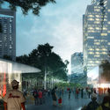 Courtesy of Roger Partners / Nelson Byrd Woltz. ImageView from plaza looking south