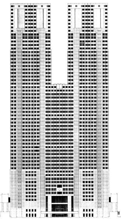 Elevation of No.1 Building (Public Domain)