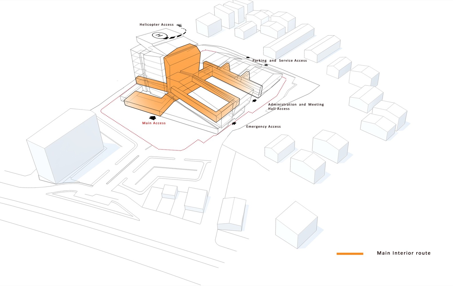 hight resolution of pars hospital new wave architecture diagram