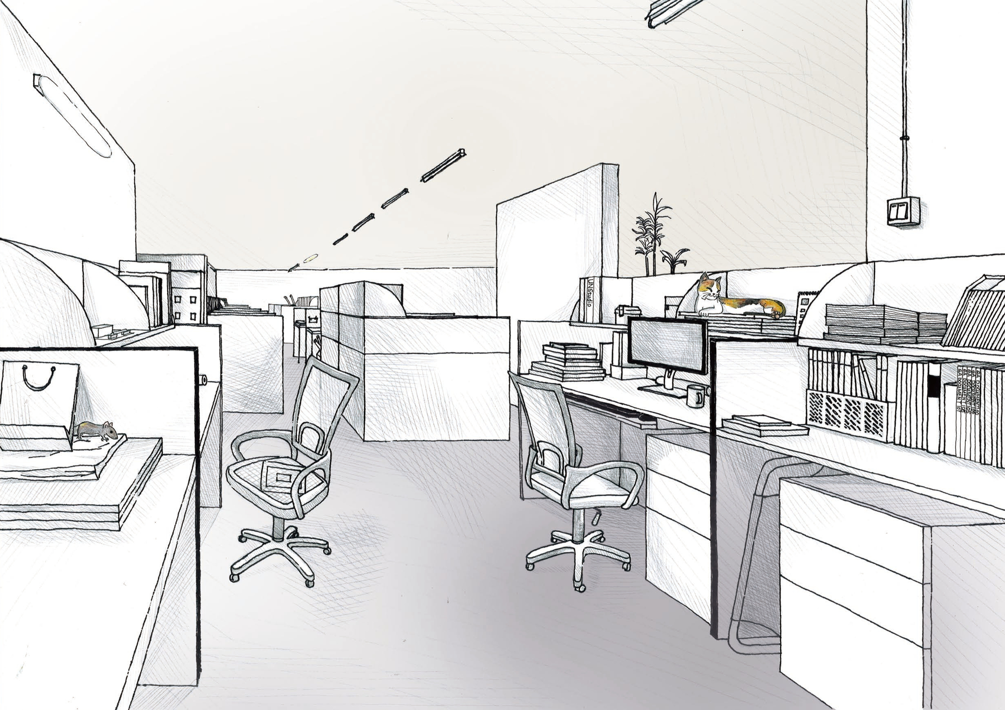 Gallery of 42 Sketches, Drawings and Diagrams of Desks and ...