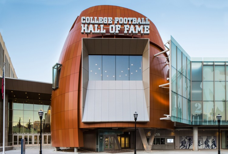 College Football Hall Of Fame Tvsdesign Archdaily