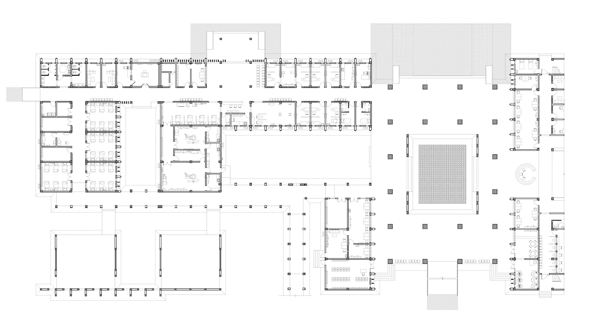 hight resolution of general hospital of niger cadi ground floor plan