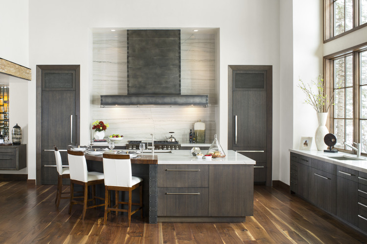 "The World's Most Prominent Kitchen Design Contest Is Now Accepting Entries, ""Mountain Bliss"" designed by Mikal Otten, Exquisite Kitchen Design, Denver, CO. First Place award for Transitional style, 2013-2014 Kitchen Design Contest. Image Courtesy of Sub-Zero and Wolf"