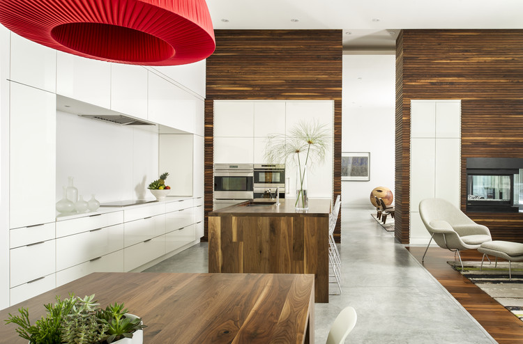"""Just A Pop of Red"" designed by Sandra Agurto and team, Cabinetry Creations, Inc., Orlando, FL. Second Place award for Contemporary style, 2013-2014 Kitchen Design Contest. Image Courtesy of Sub-Zero and Wolf"