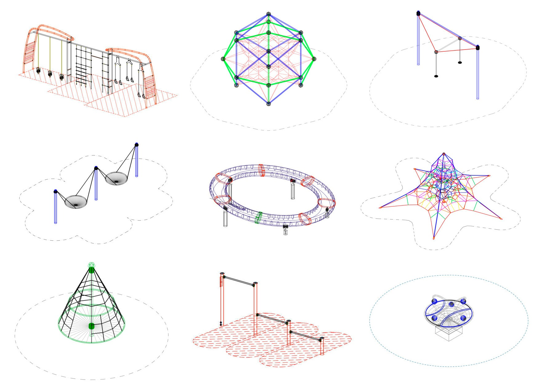 15 CAD Blocks And Files For Playground Equipment ArchDaily