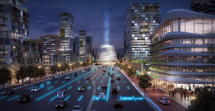 UNStudio Envisions New Transportation Hub and Development