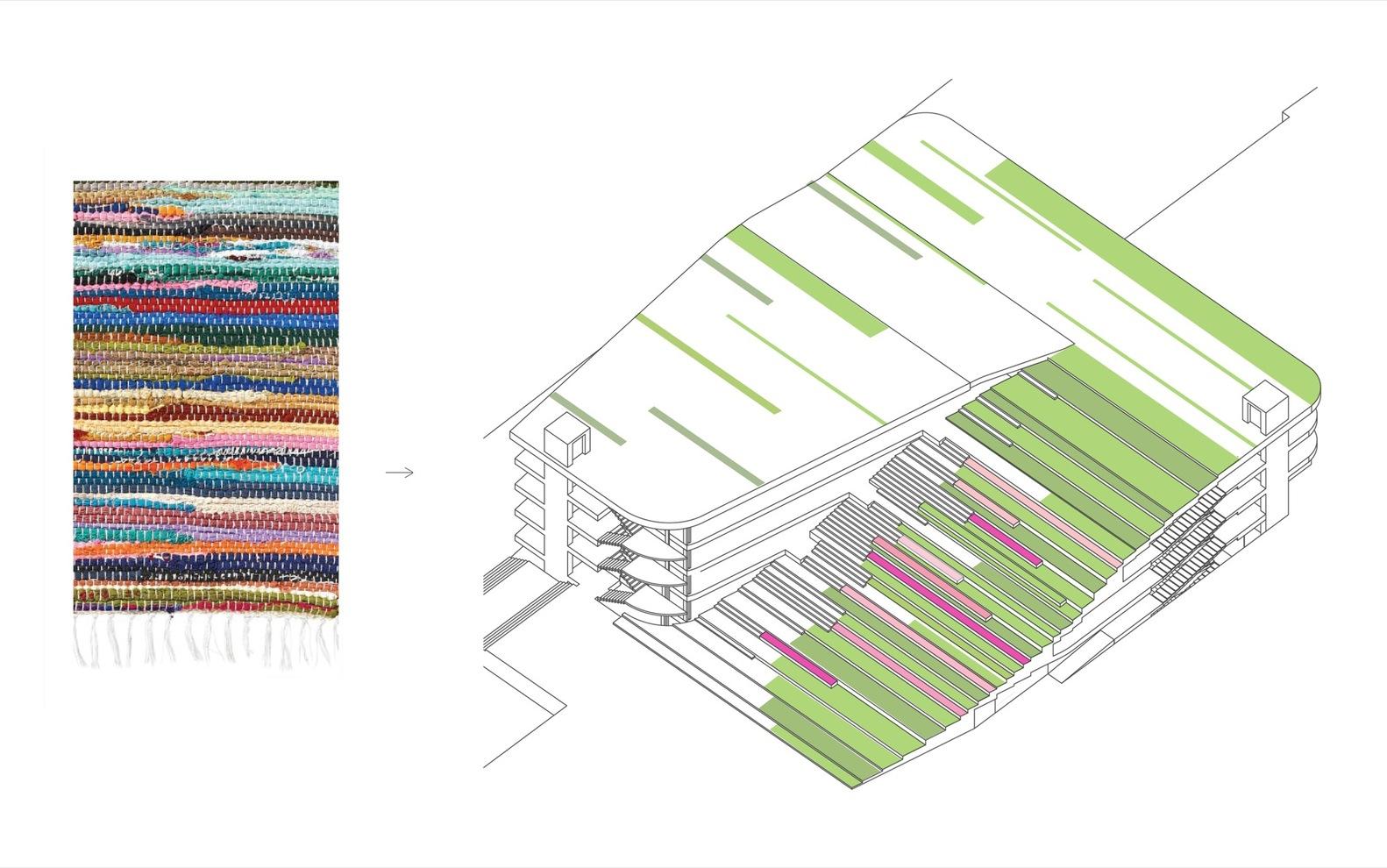 the parking garage that moonlights as a sledding slope white arkitekter henning larsen architects diagram [ 1582 x 990 Pixel ]