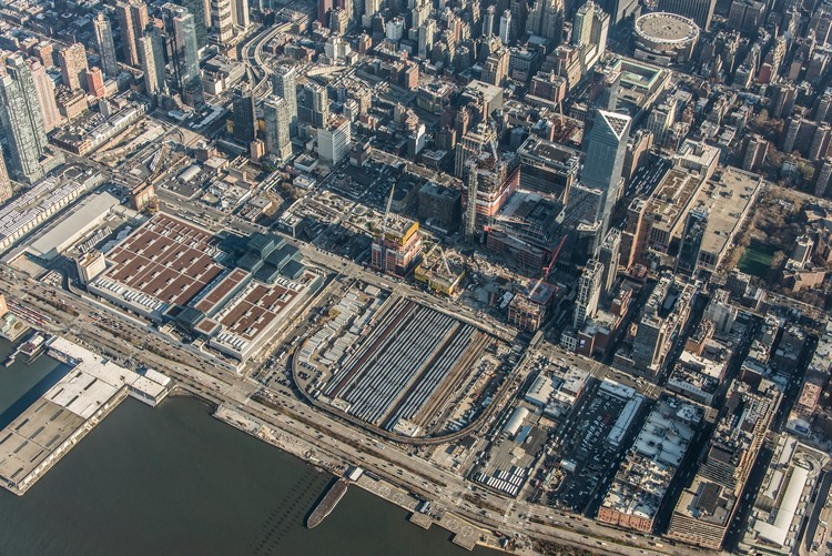 Hudson Yards Aerial View. Image Courtesy of Related-Oxford