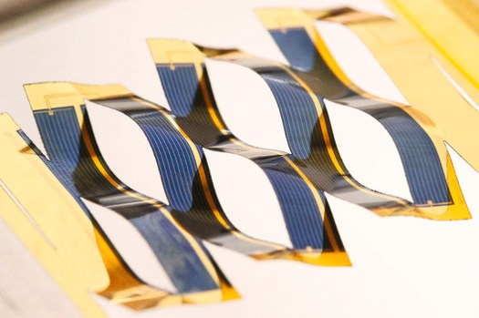 """<a href='http://www.archdaily.com/773657/researchers-increase-the-power-of-solar-energy-through-the-ancient-japanese-art-of-kirigami'>""""Kirigami""""-inspired solar panels developed at the University of Michigan</a>. Image via Inhabitat"""