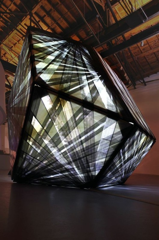 <a href='http://www.archdaily.com/415816/p-a-t-t-e-r-n-s-latest-expressive-experimental-pavilion-textile-room'>Textile Room</a> by P-A-T-T-E-R-N-S. Image © Monica Nouwens
