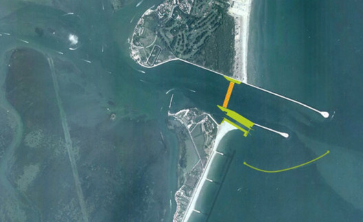 Malamocco Inlet of the MOSE Project. Image Courtesy of MOSE
