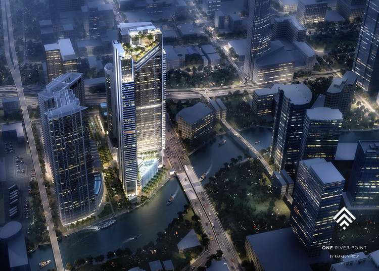Rafael Viñoly Adds to Miami's Luxury Residential Boom with New Tower Design, Side View. Image Courtesy of KAR Properties