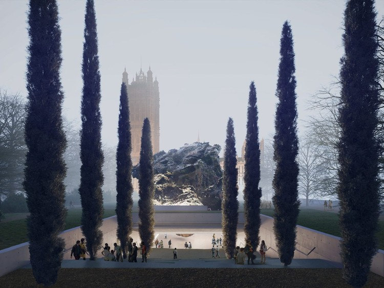 Anish Kapoor with Zaha Hadid Architects (UK). Image © Anish Kapoor and Zaha Hadid Architects & Malcolm Reading Consultants