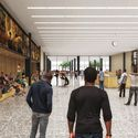 Inside the lobby. Image © Mecanoo