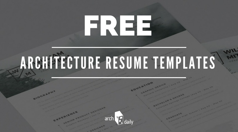 architectural resume templates free download