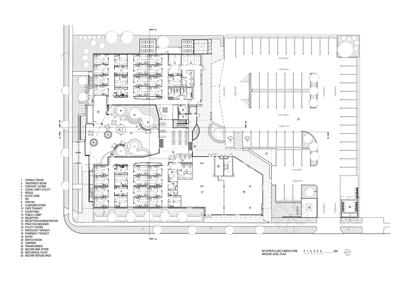 caboolture gp super clinic ground floor plan [ 1415 x 1000 Pixel ]