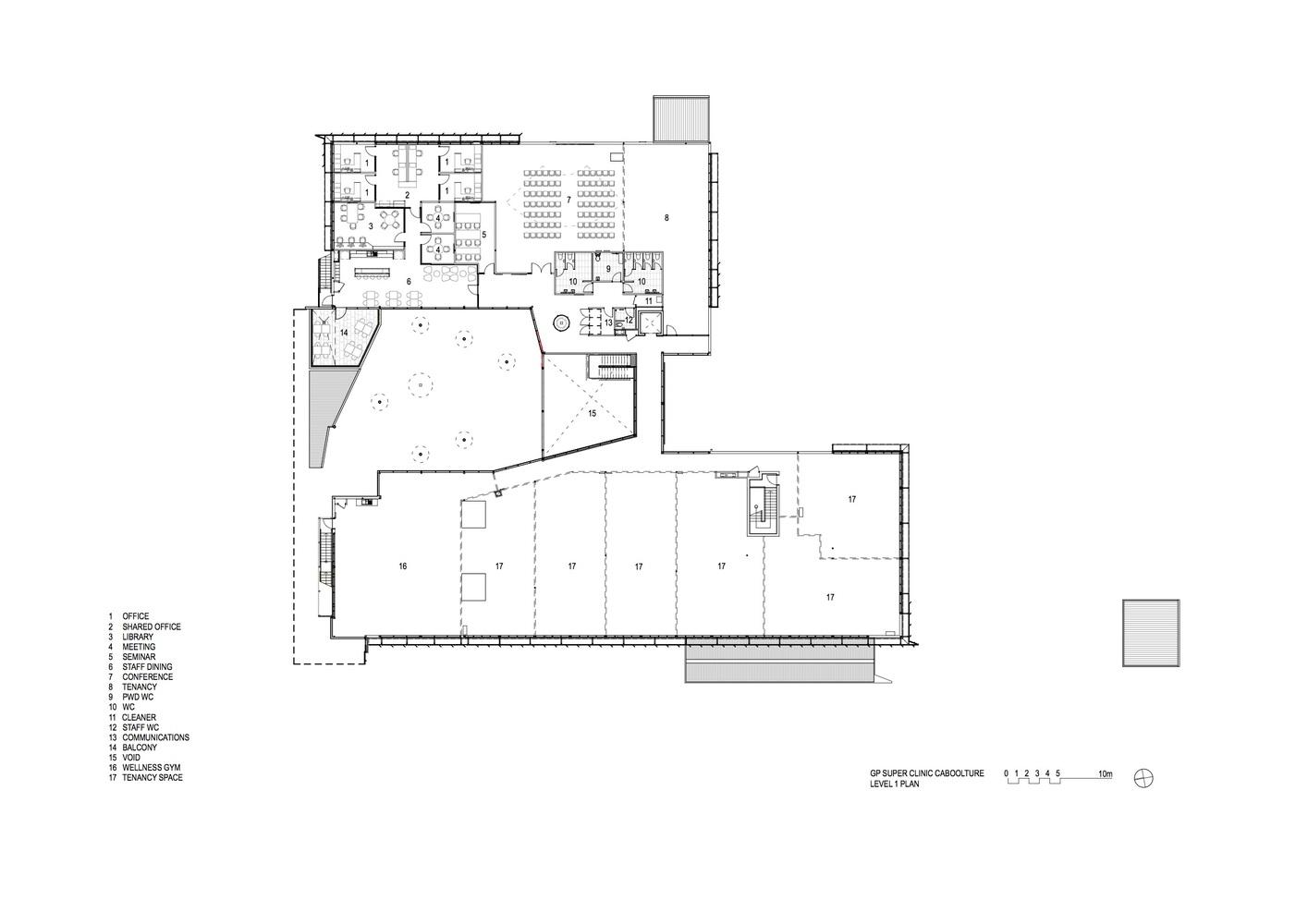 caboolture gp super clinic first floor plan [ 1415 x 1000 Pixel ]