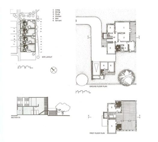 Drawings for Type 5J Housing, intended for mid-level civil servants. ImageCourtesy of Mapin