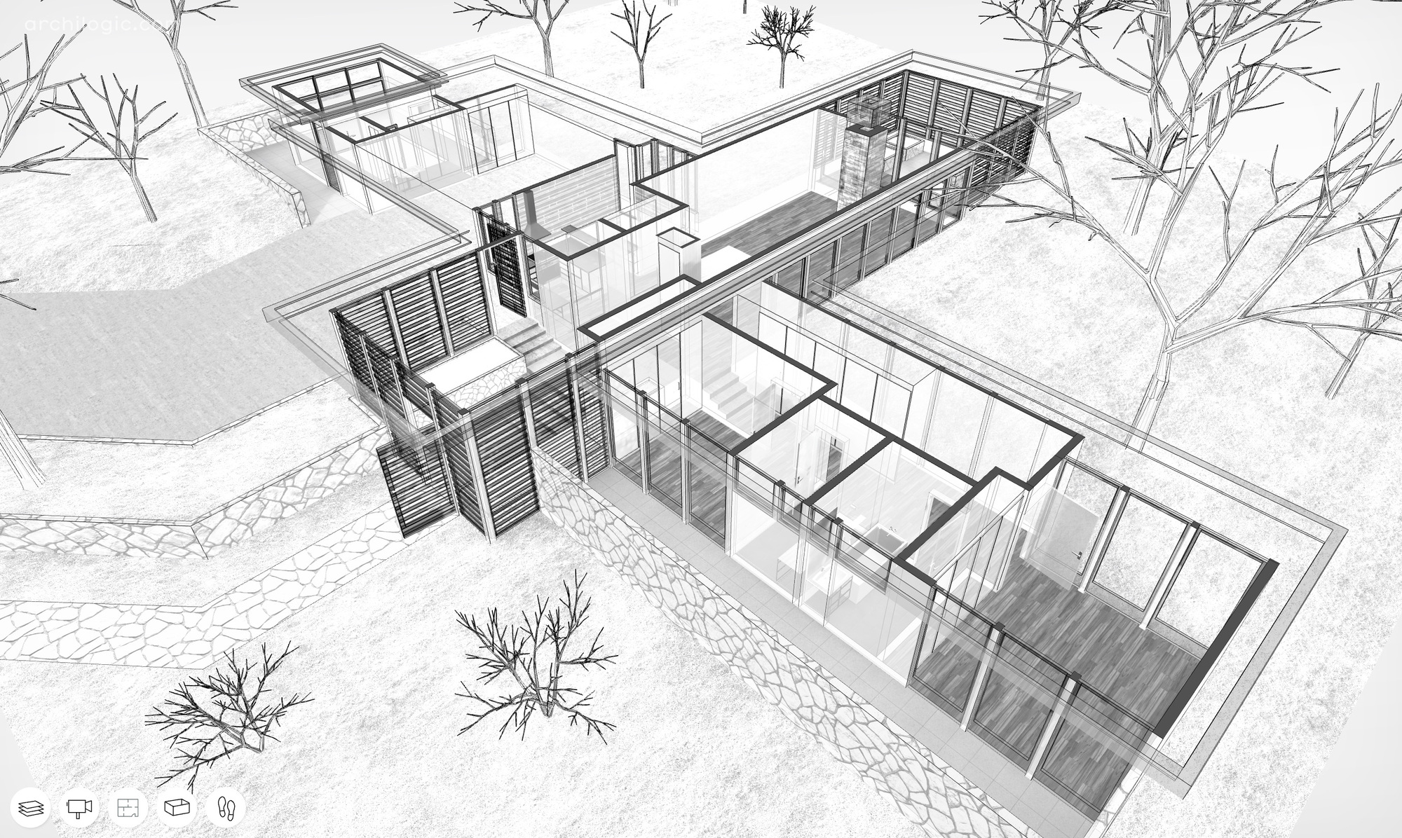 A Virtual Look Inside The Case Study House 12 By Whitney