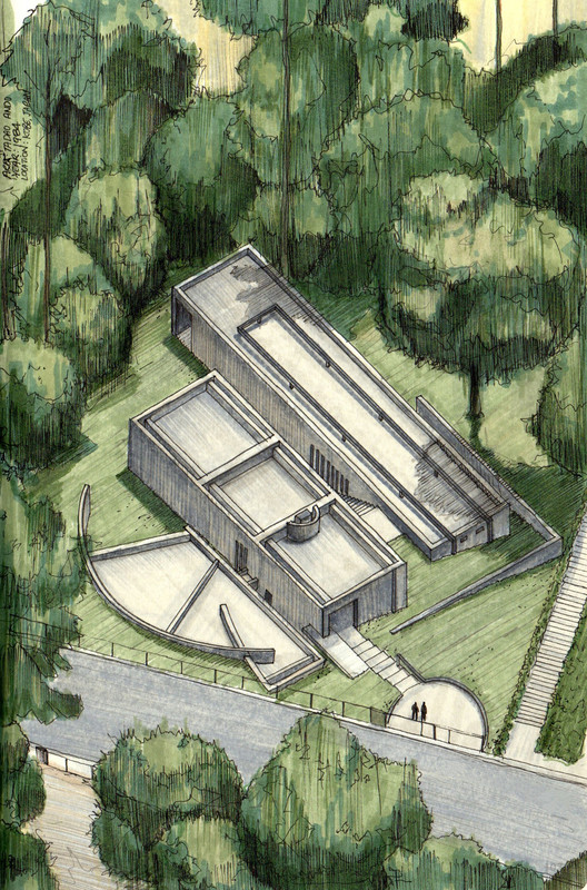 Clssicos da Arquitetura icnicos representados em perspectivas axonomtricas  ArchDaily Brasil