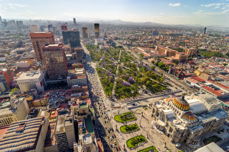 Theme Revealed for the 2018 World Design Capital in Mexico City, An aerial view of Mexico City. Image © Jess Kraft
