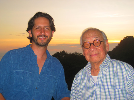 David Konwiser and I.M. Pei. Image © Sergio Pucci