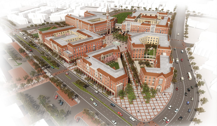Media Village at USC. Image Courtesy of LA 2024