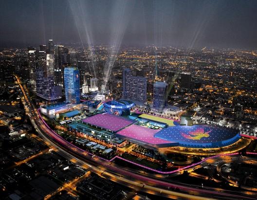Downtown Sports Park - LA Live Aerial. Image Courtesy of LA 2024