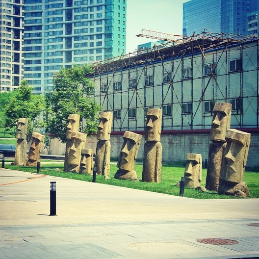 Easter Island's identical twins in Beijing, China © Flickr user jedstr. Licensed under CC BY 2.0