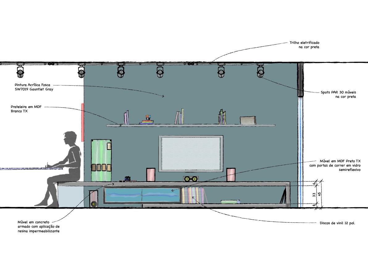 Galeria de Apartamento Galeria  VIVA Arquitetura  15