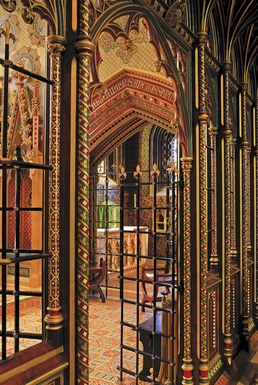 A view into the Chapel of the Blessed Sacrament of St Giles' church, Cheadle, by A.W.N. Pugin (1840-1846). Acknowledgments to Michael Fisher. Image © Mark Titterton