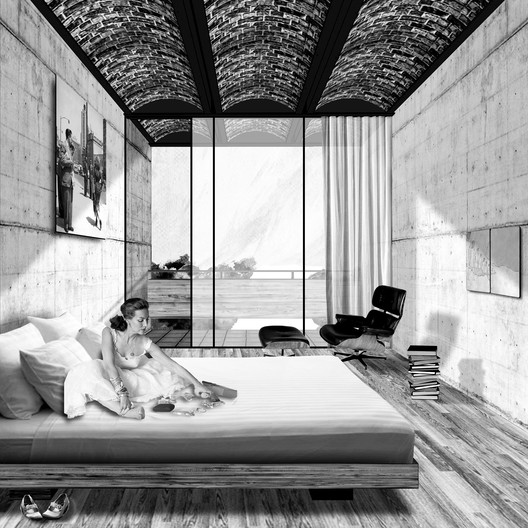 Room render. Image Courtesy of Dellekamp Arquitectos