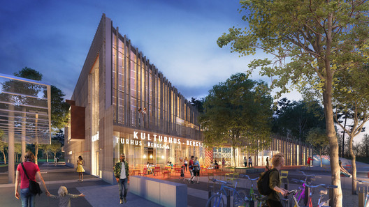 The Kulturkorgen offers Gothenburg a basket of culture, inside and out. Image Courtesy of Sweco