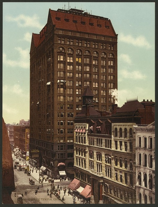 The Masonic Temple in Chicago in 1901. Image <a href='https://www.loc.gov/item/2008678295/'>via Library of Congress</a>